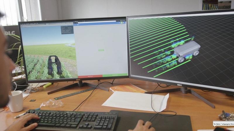 simulation vision 3D robot agricole ifm